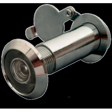 Wizjer szerokokątny do drzwi, kolor srebrny