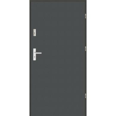 Drzwi wejściowe stalowe zewnętrzne LUX Płaskie