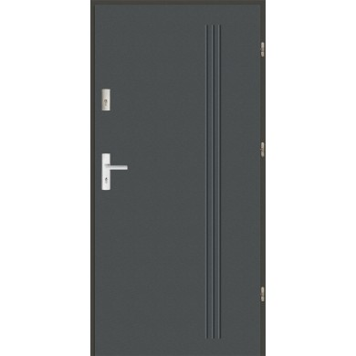 Drzwi wejściowe stalowe zewnętrzne LUX GALA 6