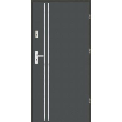 Drzwi wejściowe stalowe zewnętrzne LUX AP 1