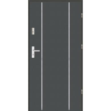 Drzwi wejściowe stalowe zewnętrzne LUX AP 4