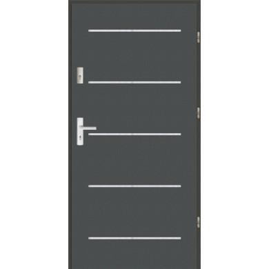 Drzwi wejściowe stalowe zewnętrzne LUX AP 5