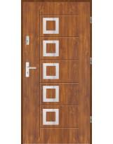 Drzwi wejściowe stalowe model LUX AF 15 PELNE INOX