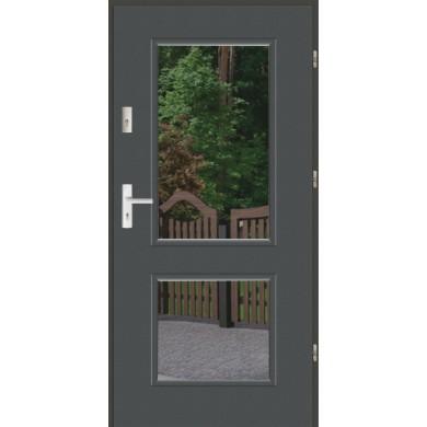 Drzwi wejściowe stalowe zewnętrzne LUX DUO 2