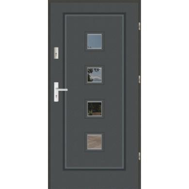 Drzwi wejściowe stalowe zewnętrzne LUX F 15