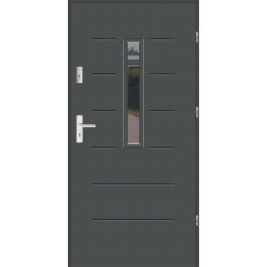 Drzwi wejściowe stalowe zewnętrzne LUX WIKI 1