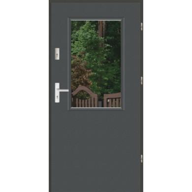 Drzwi wejściowe stalowe zewnętrzne LUX DUO 1