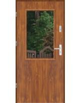 Drzwi wejściowe stalowe model LUX DUO 1