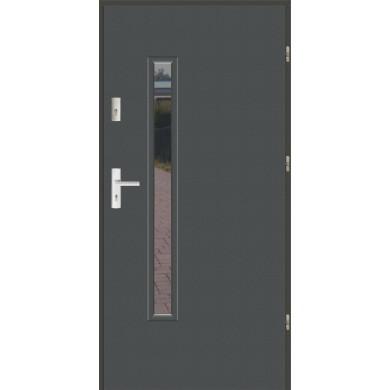 Drzwi wejściowe stalowe zewnętrzne LUX PŁASKIE S16
