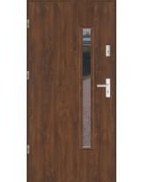 Drzwi wejściowe stalowe model LUX PŁASKIE S16