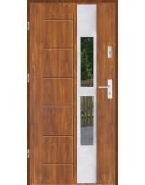 Drzwi wejściowe stalowe model LUX GALA 135 INOX