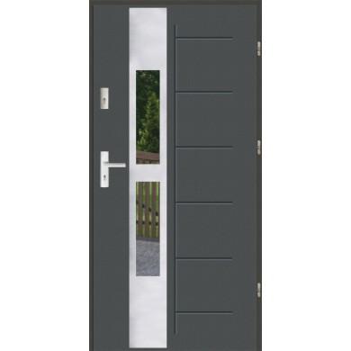 Drzwi wejściowe stalowe zewnętrzne LUX GALA 135 INOX