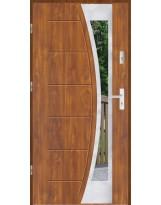 Drzwi wejściowe stalowe model LUX GALA 140 INOX