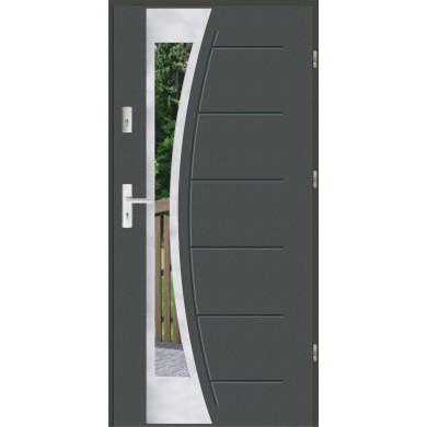 Drzwi wejściowe stalowe zewnętrzne LUX GALA 140 INOX