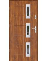 Drzwi wejściowe stalowe model LUX GALA 128 INOX