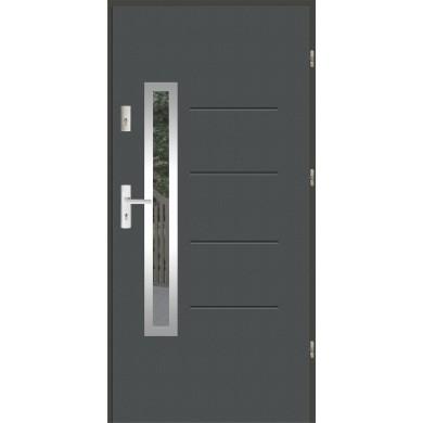 Drzwi wejściowe stalowe zewnętrzne LUX GALA 77 INOX