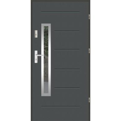 Drzwi wejściowe stalowe zewnętrzne LUX GALA 81 INOX