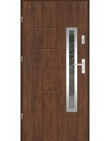 Drzwi wejściowe stalowe model LUX GALA 82 INOX