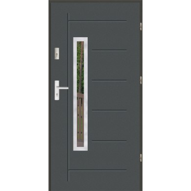 Drzwi wejściowe stalowe zewnętrzne LUX GALA 83 INOX