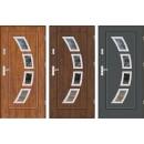 Drzwi wejściowe stalowe zewnętrzne LUX FINEZJA 3 INOX