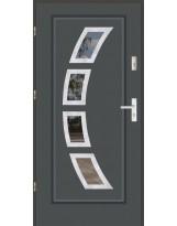 Drzwi wejściowe stalowe model LUX FINEZJA 3 INOX