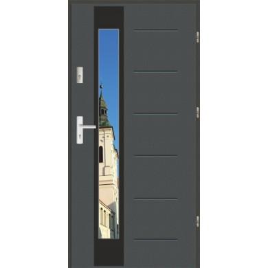 Drzwi wejściowe stalowe zewnętrzne LUX GALA 27 BLACK