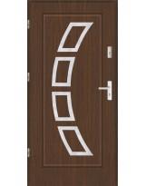 Drzwi wejściowe stalowe model SP AF 3 PEŁNE INOX