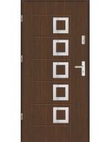 Drzwi wejściowe stalowe model SP AF 15 PEŁNE INOX
