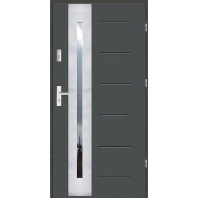 Drzwi wejściowe stalowe zewnętrzne SP GALA 43 INOX