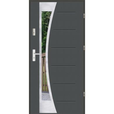 Drzwi wejściowe stalowe zewnętrzne SP GALA 140 INOX
