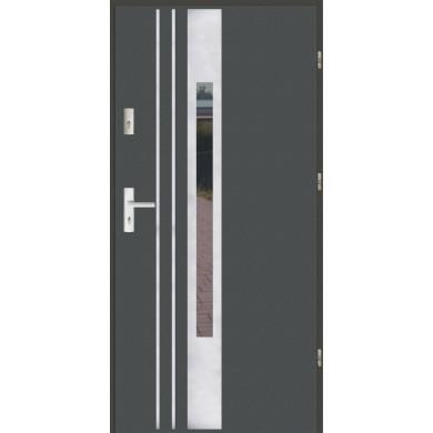 Drzwi wejściowe stalowe zewnętrzne SP F 44 INOX