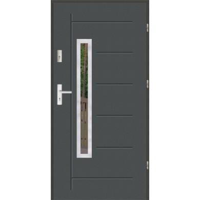 Drzwi wejściowe stalowe zewnętrzne SP GALA 81 INOX