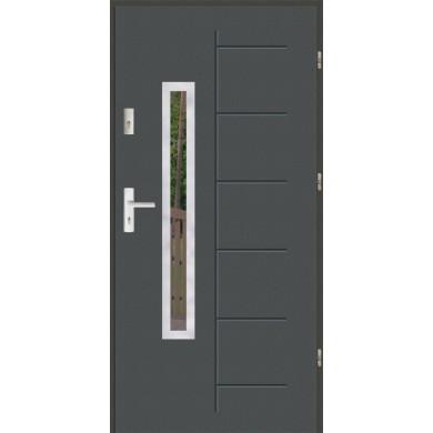Drzwi wejściowe stalowe zewnętrzne SP GALA 176 INOX