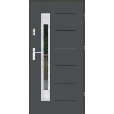 Drzwi wejściowe stalowe zewnętrzne SP GALA 23 INOX