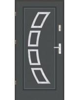 Drzwi LUX AF 3 PELNE INOX