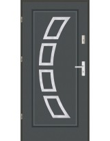 Drzwi wejściowe stalowe model LUX AF 3 PELNE INOX