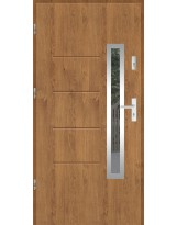 Drzwi wejściowe stalowe model SP GALA 77 INOX