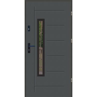 Drzwi wejściowe stalowe zewnętrzne SP GALA 83 BLACK
