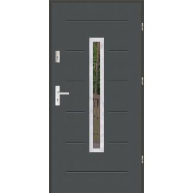 Drzwi wejściowe stalowe zewnętrzne LUX GALA 73 INOX