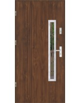 Drzwi wejściowe stalowe model LUX GALA 78 INOX