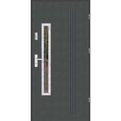 Drzwi wejściowe stalowe zewnętrzne LUX GALA 78 INOX