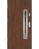 Drzwi wejściowe stalowe model LUX GALA 85 INOX