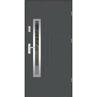 Drzwi wejściowe stalowe zewnętrzne LUX GALA 85 INOX
