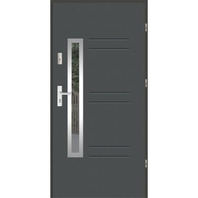 Drzwi wejściowe stalowe zewnętrzne LUX GALA 86 INOX