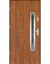 Drzwi wejściowe stalowe model LUX GALA 177 INOX