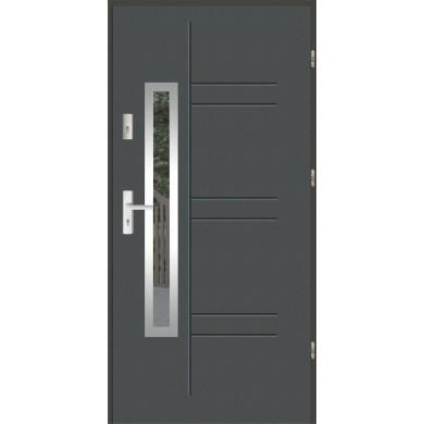 Drzwi wejściowe stalowe zewnętrzne LUX GALA 177 INOX