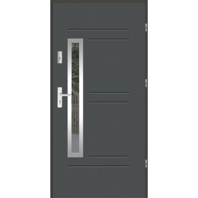Drzwi wejściowe stalowe zewnętrzne LUX GALA 87 INOX