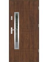 Drzwi wejściowe stalowe model LUX GALA 87 INOX