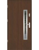 Drzwi wejściowe stalowe model SP PŁASKIE 76 INOX