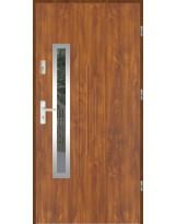 Drzwi wejściowe stalowe model SP GALA 85 INOX